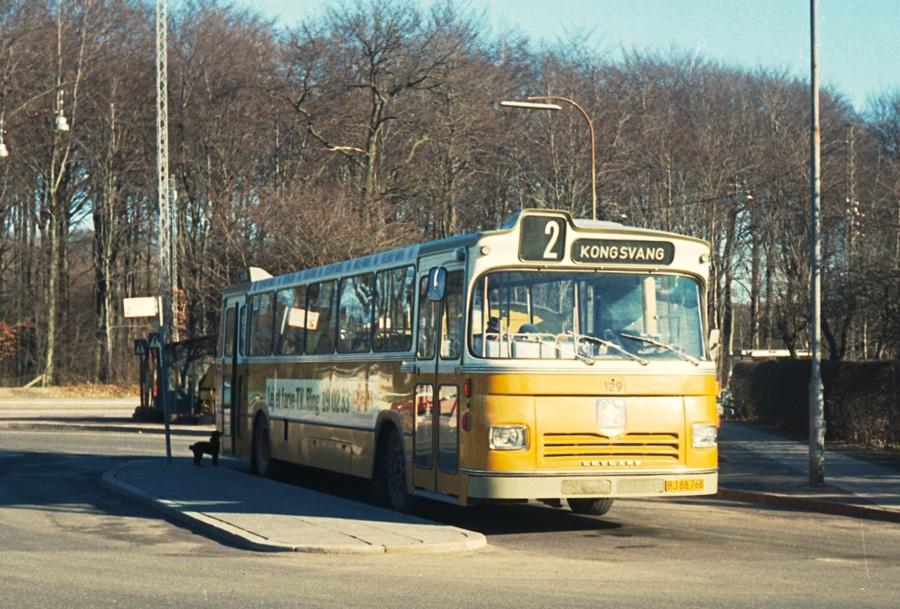Århus Sporveje 129/BJ88768 i Marienlund i Århus den 23. februar 1974