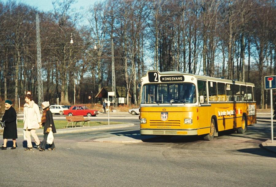 Århus Sporveje 148/BK93216 i Marienlund i Århus den 23. februar 1974