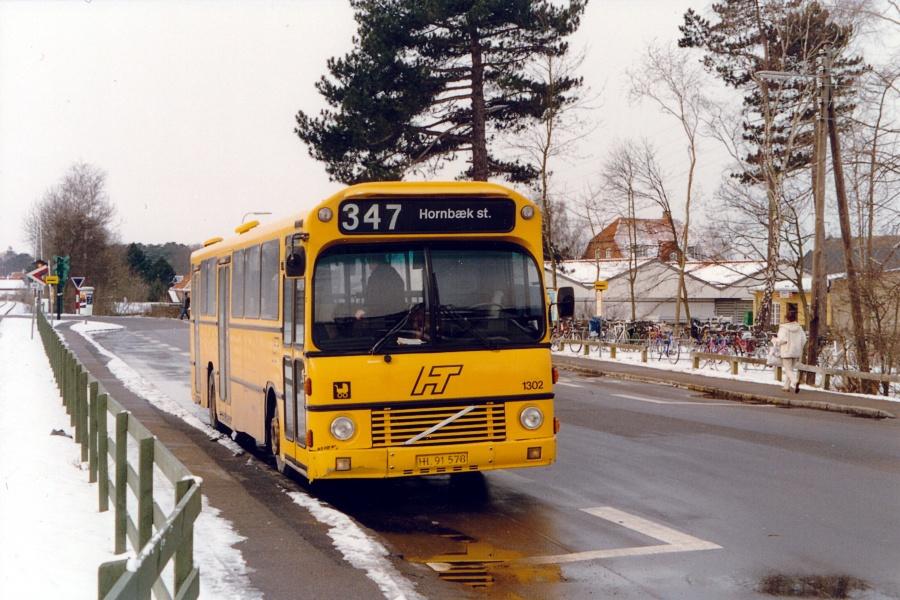 Arriva 1302/HL91578 ved Hornbæk Station den 27. februar 2001