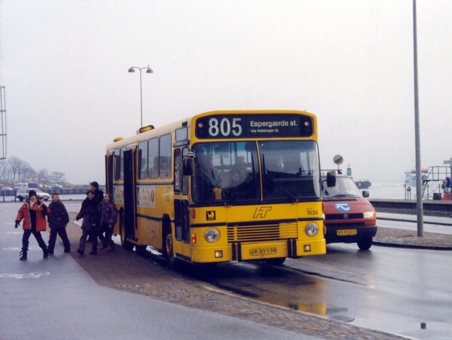 Arriva 1534/JR89530 ved Havnepladsen i Helsingør den 15. februar 2000