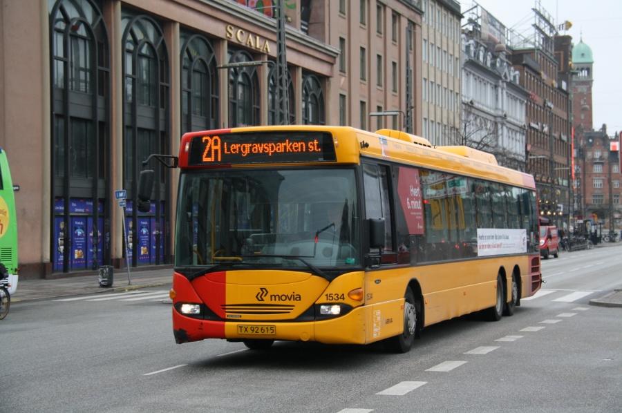 Arriva 1534/TX92615 på Vesterbrogade i København den 13. april 2011