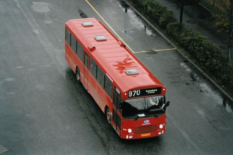 Combus 1938/JD92506 ved Odense Banegårdscenter den 14. oktober 1998