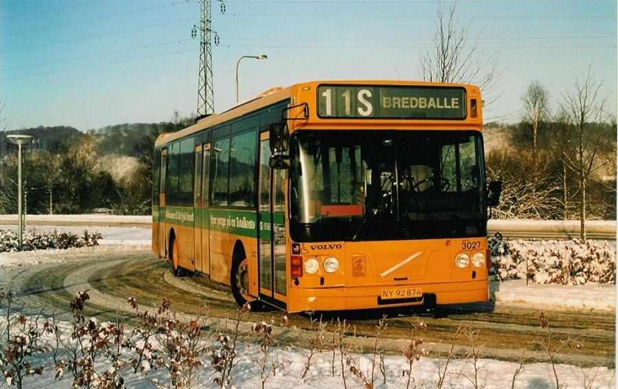 Arriva 3027/NY92874 på Vestre Engvej i Vejle den 31. december 2001