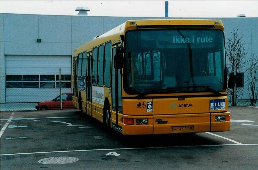 Arriva 3043/NV93228 i garagen i Fredericia den 2. april 2000
