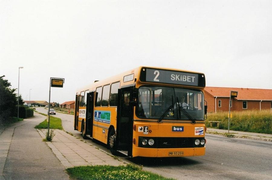 Bus Danmark 3019/MR93259 på Carl Nielsensvej i Vejle den 29. juli 1998