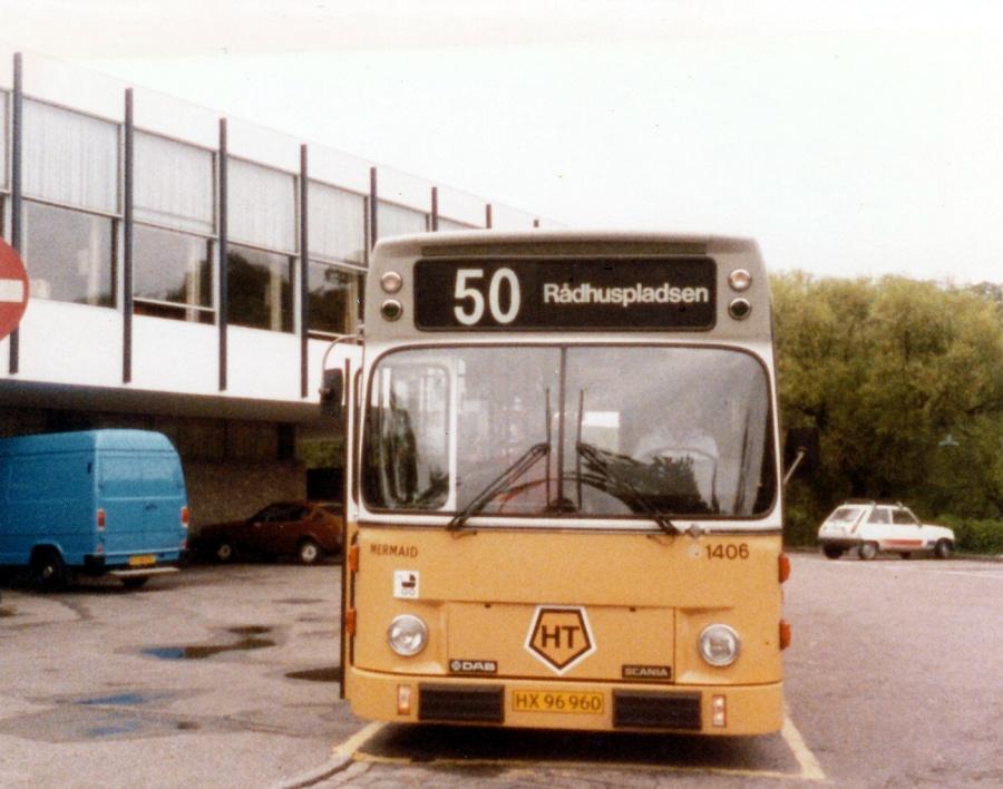 HT 1406/HX96960 ved Langelinie i København i august 1985
