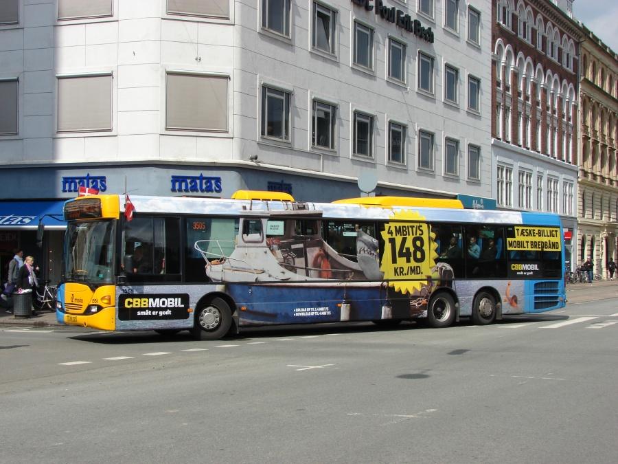 Arriva 1551/TZ89327 ved Frederiksborggade og Nørre Voldgade i København den 5. maj 2011