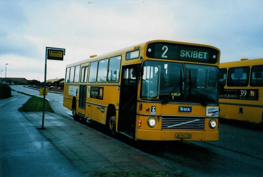 Bus Danmark 3003/JS94723 på Carl Nielsensvej i Vejle den 5. marts 1998