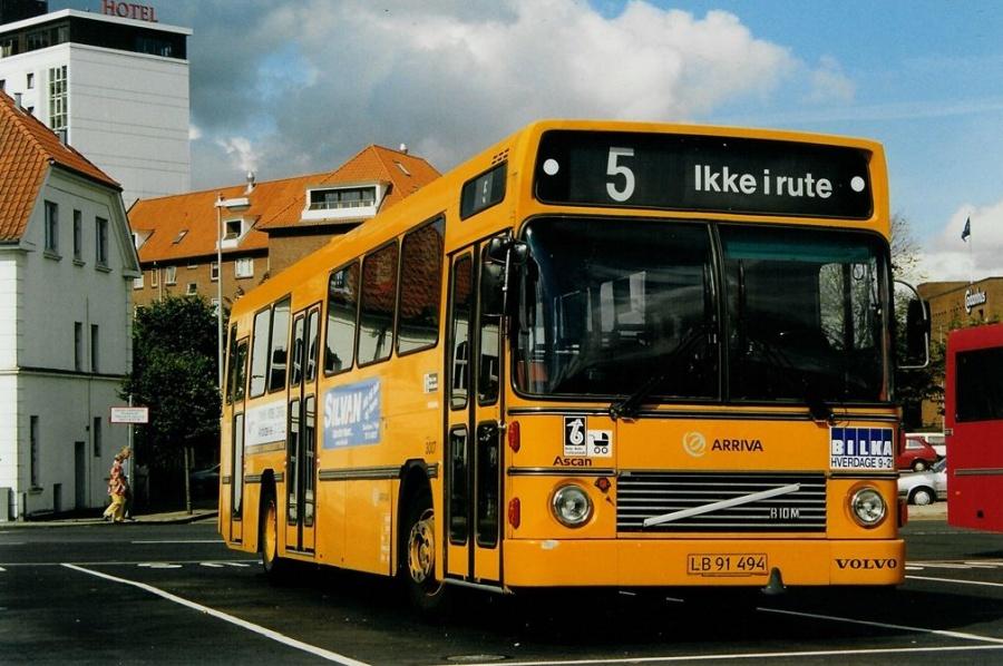 Arriva 3007/LB91494 på Vejle Trafikcenter den 13. august 1999