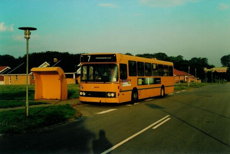 Arriva 3019/MR93259 på Grundet Bakke i Vejle den 18. juni 2002