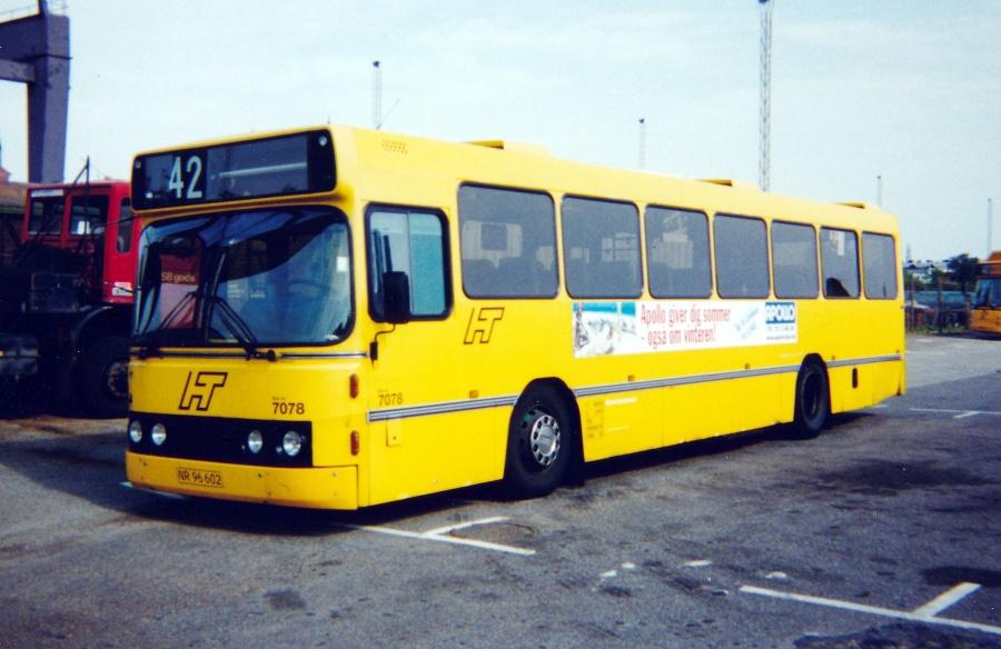 Combus lånevogn 7078/NR96602 i garagen i Vasbygade i København den 6. september 1998