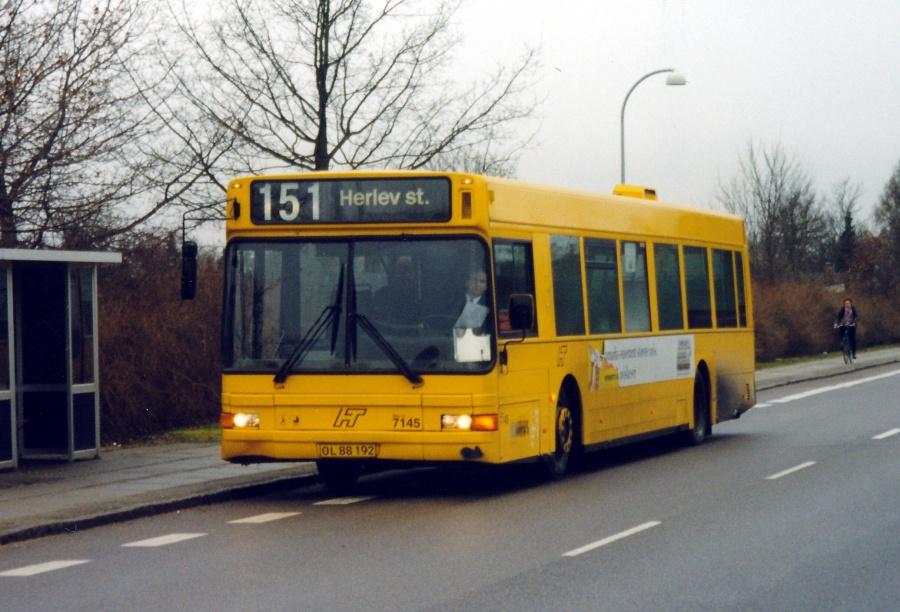 Arriva 7145/OL88192 på Gammel Klausdalsbrovej i Herlev den 16. januar 2000