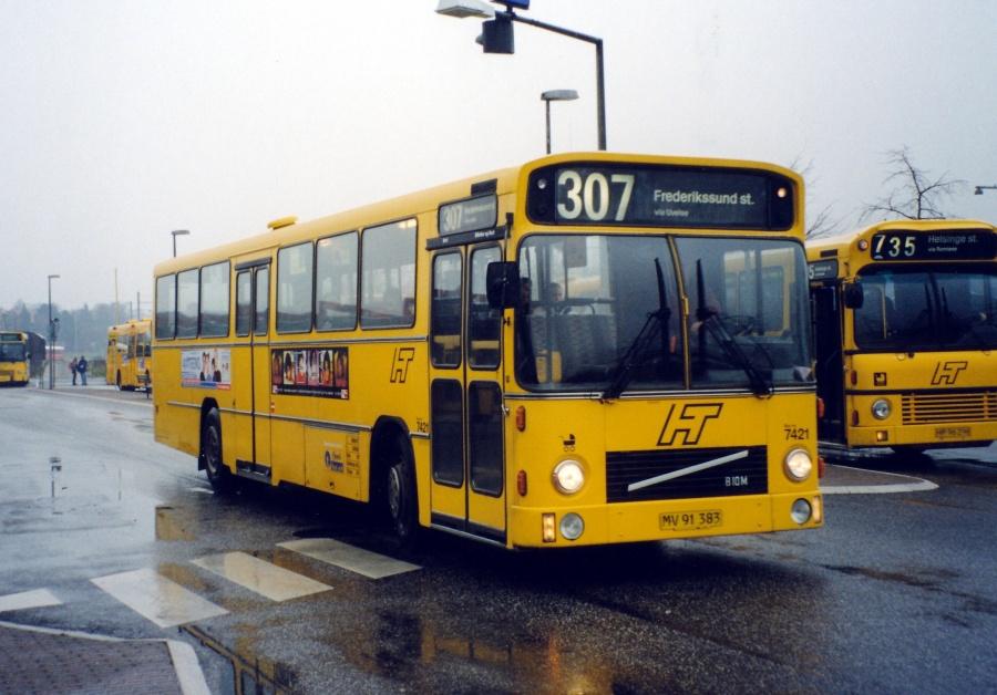 Fjordbus 7421/MV91383 ved Hillerød Station den 17. november 1999