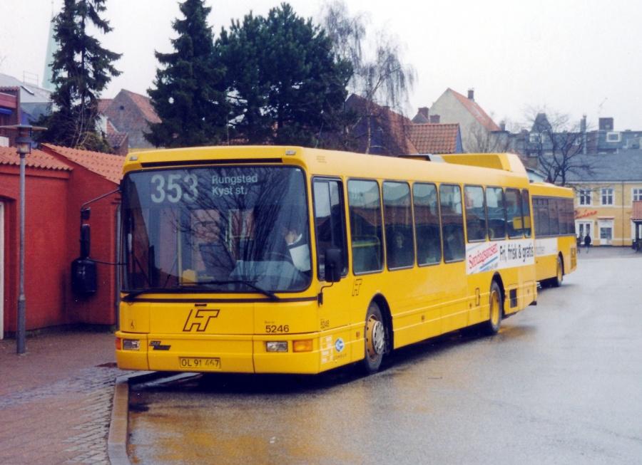 Combus 5246/OL91467 ved Helsingør Station den 15. februar 2000