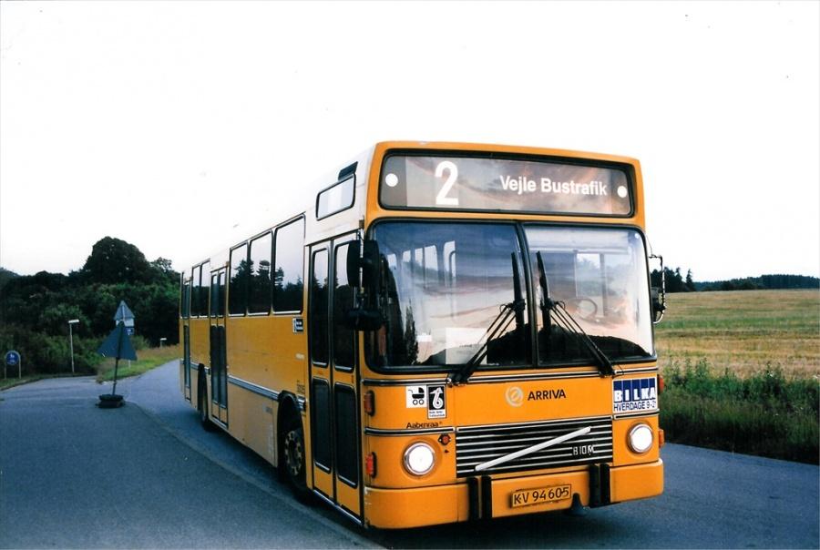 Arriva 3005/KV94605 på Jennumvej i Skibet ved Vejle den 28. juni 1999
