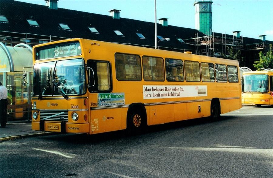 Arriva 3008/LB91495 ved Fredericia banegård den 21. august 2000