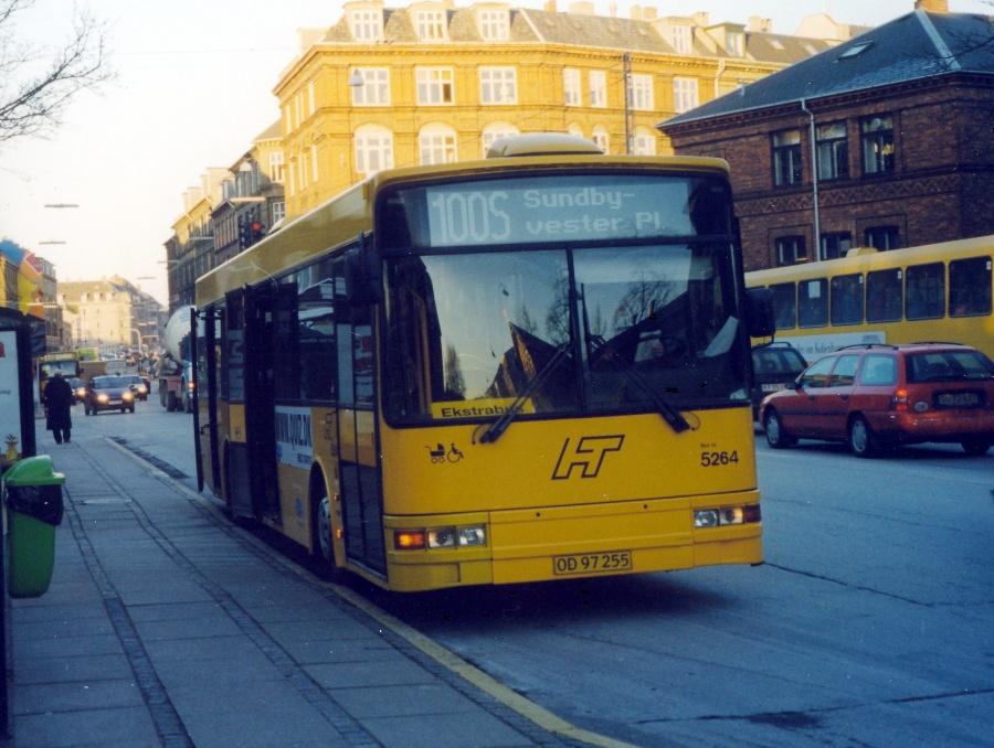 Combus 5264/OD97255 på Søndre Fasanvej på Frederiksberg den 21. januar 2000