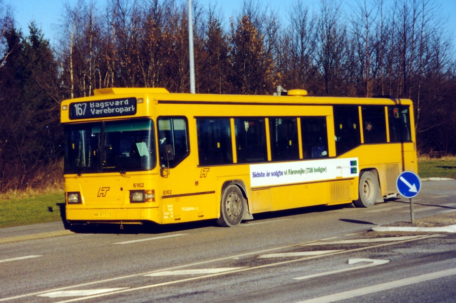 Linjebus 6162/NR97573 på Klausdalsbrovej den 14. februar 2000