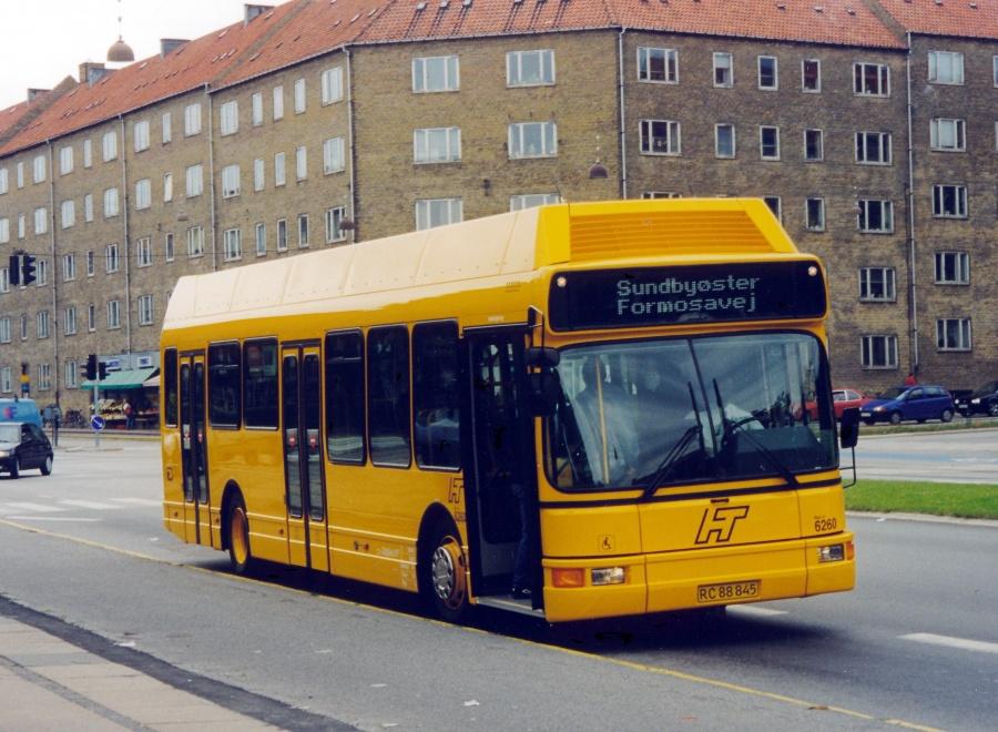 Linjebus 6260/RC88845 på Frederikssundsvej i København i juli 1999