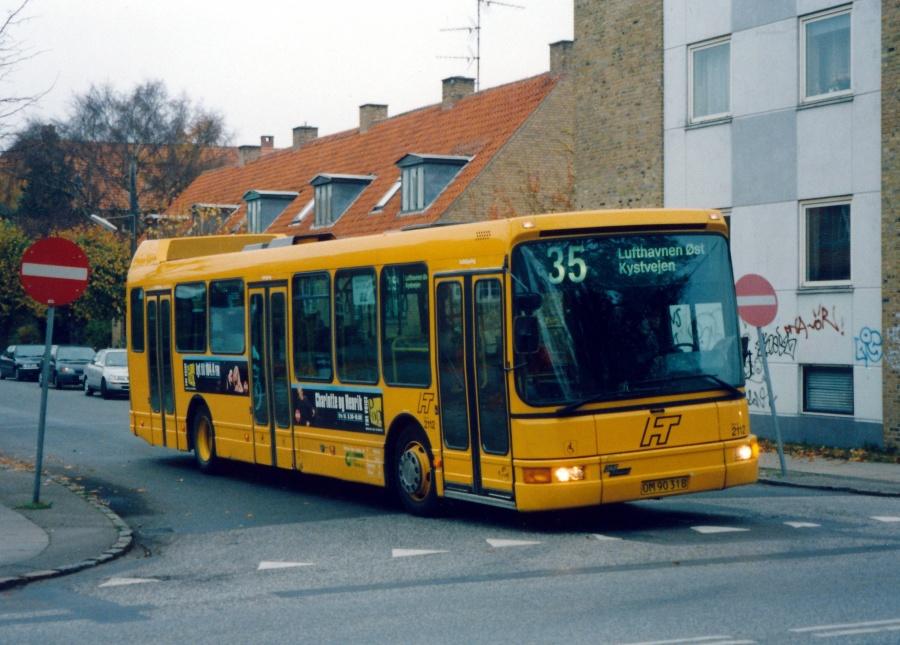 City-Trafik 2112/OM90318 på Linde Alle i Dragør den 5. november 1999