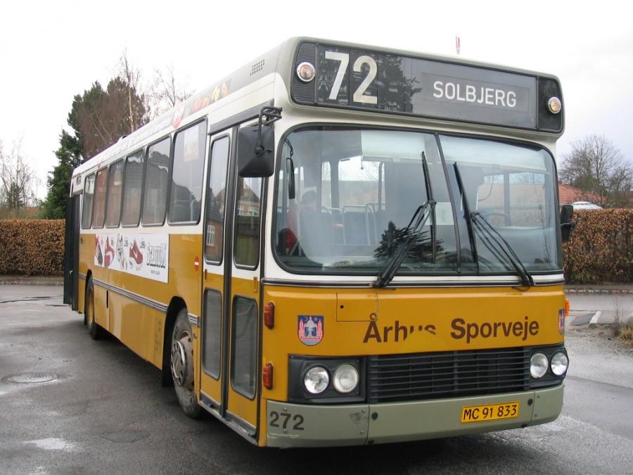 Århus Sporveje 272/MC91833 ved Tranbjerg st. den 22. marts 2004