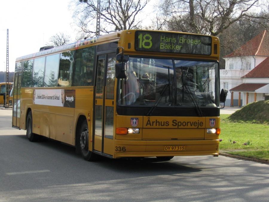 Århus Sporveje 336/OY97315 på Dalgas Avenue i Århus den 26. marts 2004