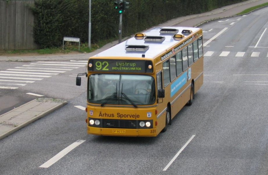 Århus Sporveje 331/OP90534 på Ringvej Syd i Viby den 27. august 2004
