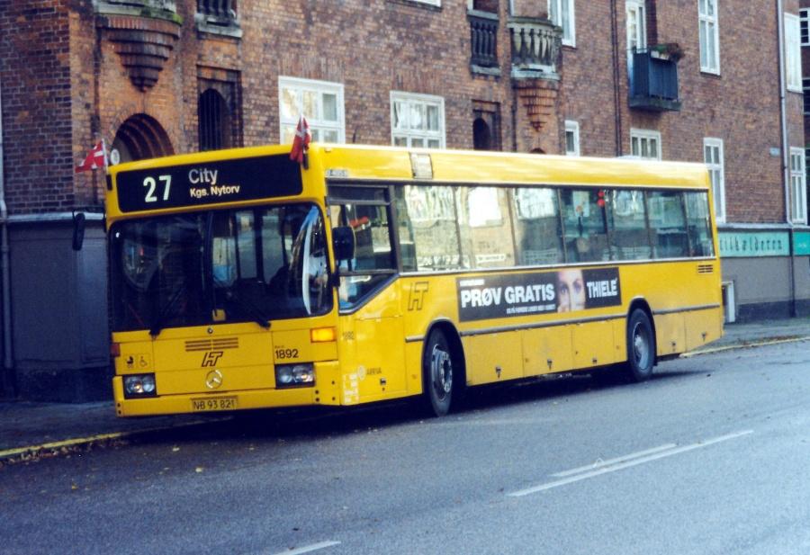 Arriva 1892/NB93821 på Danasvej på Frederiksberg den 1. oktober 1999