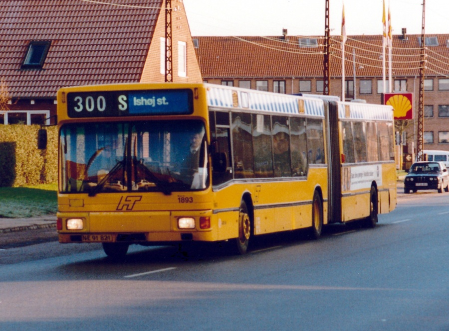 Arriva 1893/NE91821 på Park Allé i Glostrup den 20. december 2000