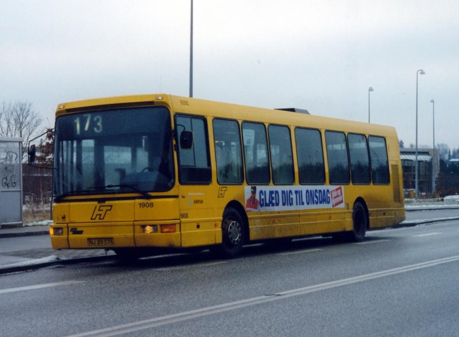 Arriva 1908/NJ89375 på Hørsholm Kongevej den 25. januar 2000