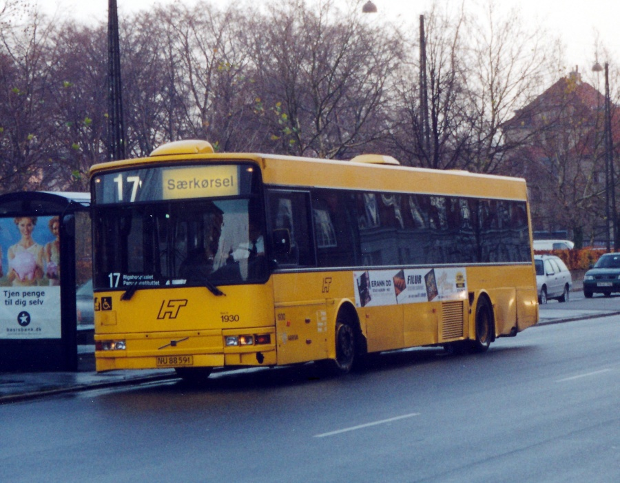 Arriva 1930/NU88591 på Blegdamsvej i København den 23. november 2000