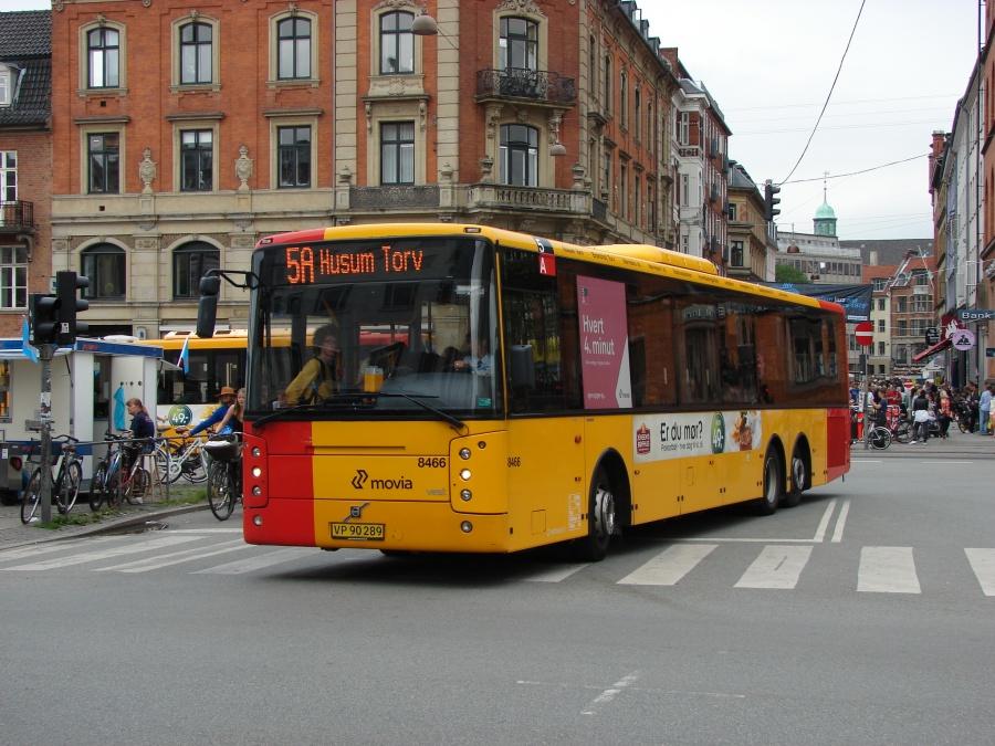 Nettbuss 8466/VP90289 i Frederiksborggade i København den 4. juli 2011