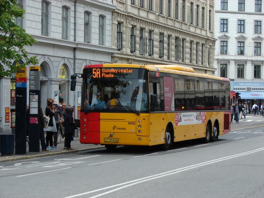 Nettbuss 8452/VP89846 i Frederiksborggade i København den 4. juli 2011