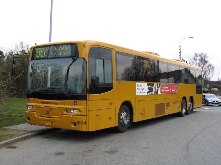 Århus Sporveje 634/TL96175 ved endestationen i Tilst den 11. april 2006