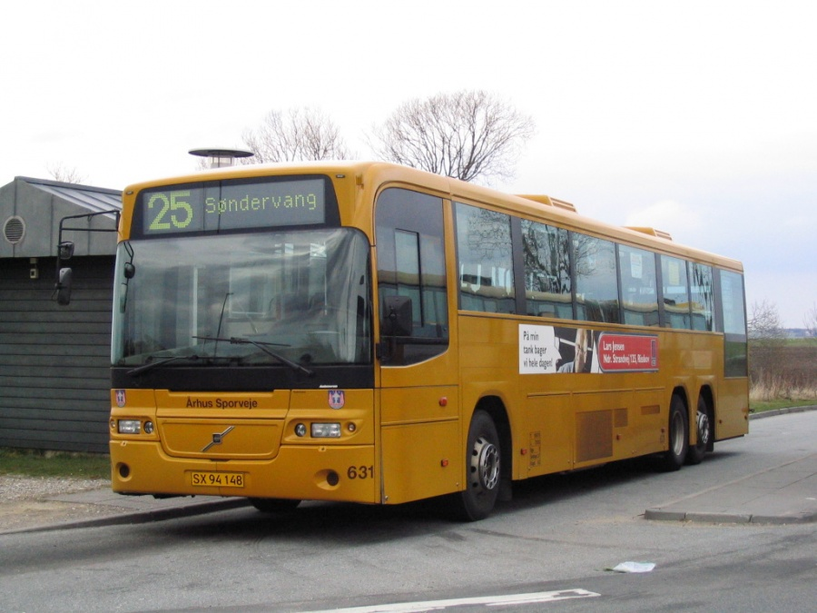 Århus Sporveje 631/SX94148 ved endestationen i Tilst den 11. april 2006