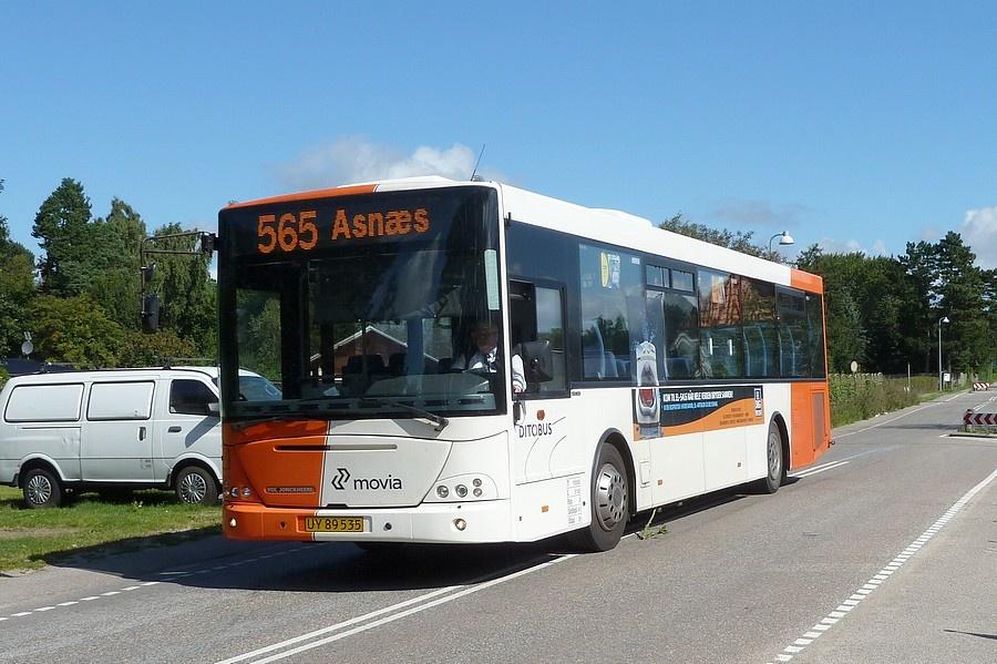 Ditobus 635/UY89535 i Odsherred den 16. august 2011