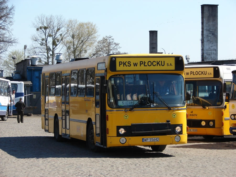 PKS Płock 70851/WP55642 i Sierpc i Polen den 22. april 2009