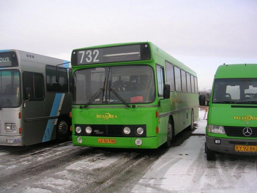 Wulff Bus 3115/LV92590 i Årslev den 29. januar 2005