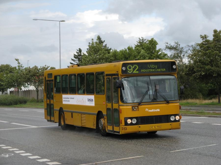 Århus Sporveje 313/OE92902 på Vejlby Ringvej i Vejlby den 20. august 2008
