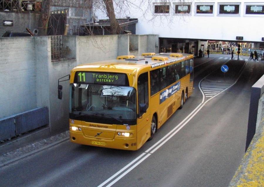 Århus Sporveje 618/SX94068 i Busgaden i Århus den 21. marts 2005