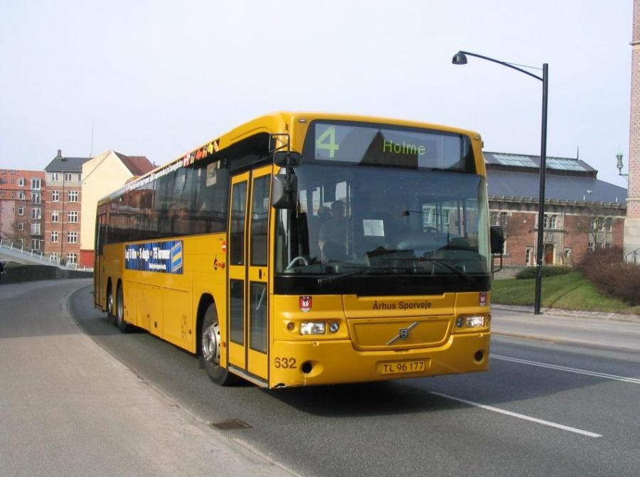 Århus Sporveje 632/TL96177 på Vester Allé i Århus den 26. marts 2005