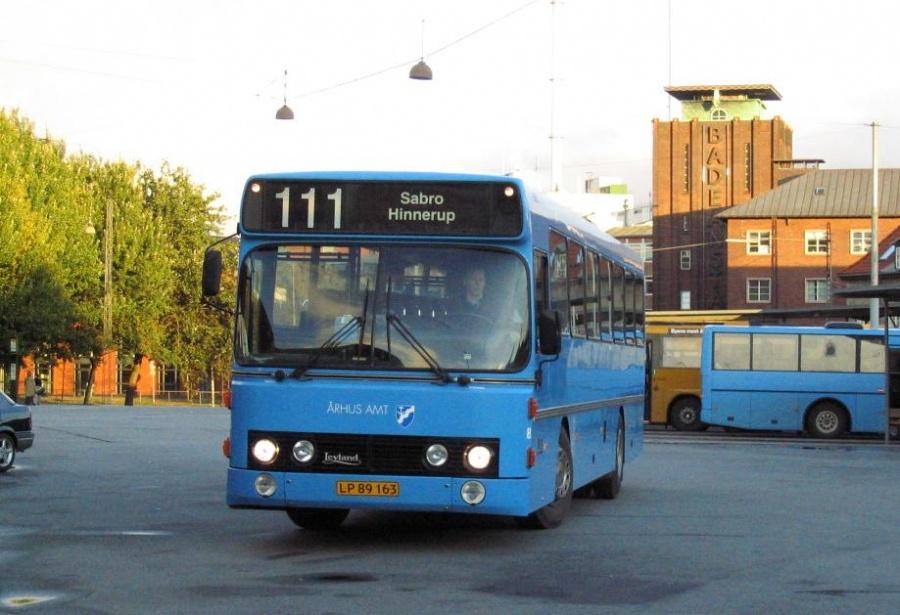 De Grønne Busser 8/LP89163 på Århus Rutebilstation den 22. oktober 2005