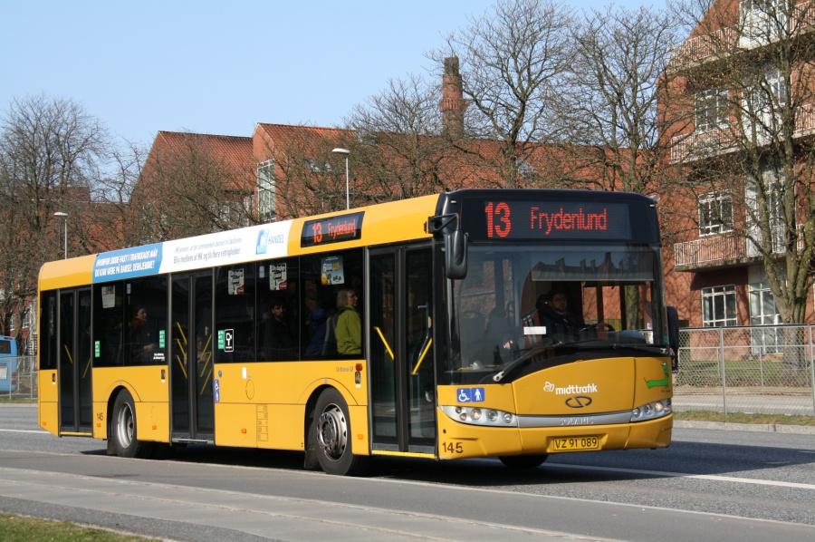 Århus Sporveje 145/VZ91089 på Nørrebrogade i Århus den 26. marts 2012