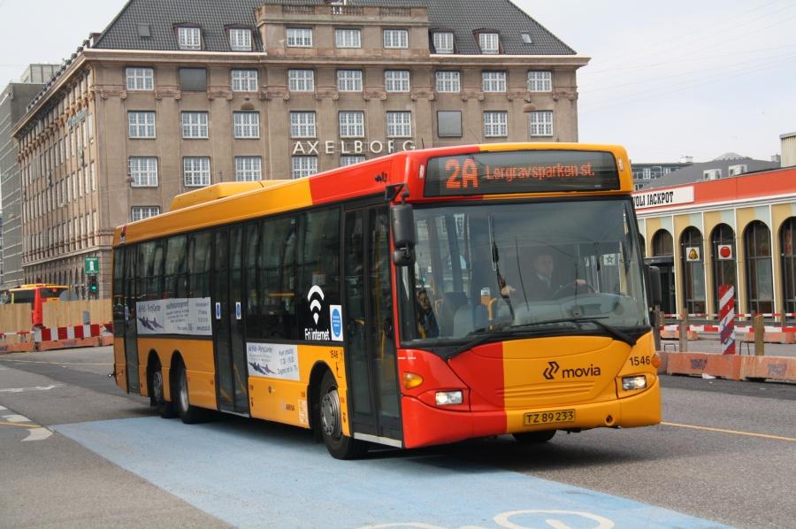 Arriva 1546/TZ89233 i Bernstorffsgade i København den 24. marts 2012