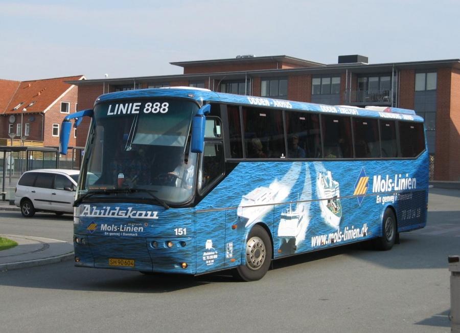 Abildskou 151/SH90604 på Rønde Busterminal den 17. juli 2007