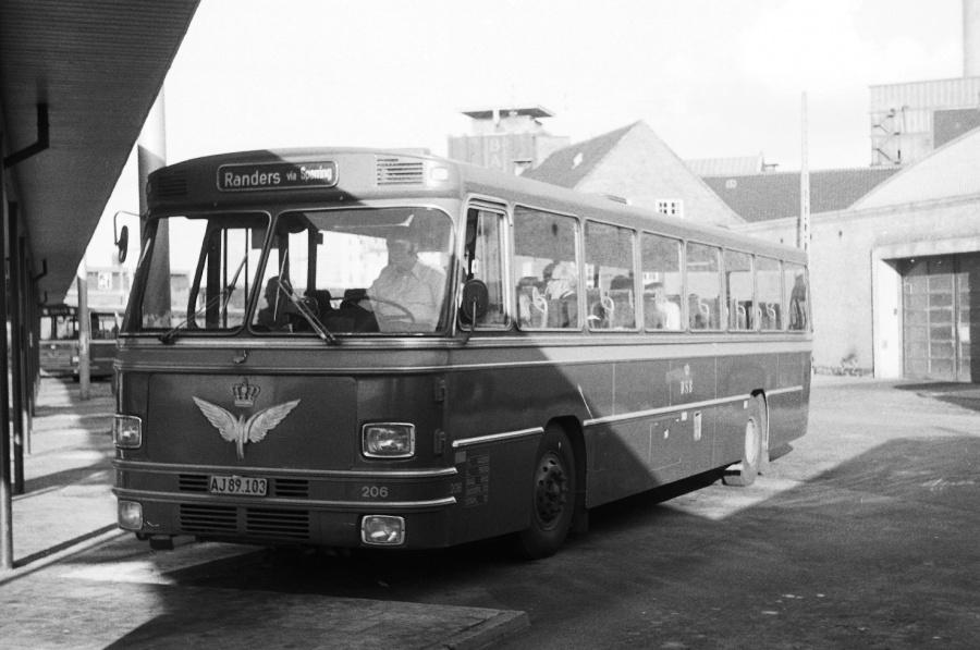 DSB 206/AJ89103 på Århus rtb. den 18. august 1974
