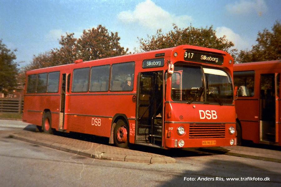 DSB 817/HN96819 på Grindsted rtb. i efteråret 1984