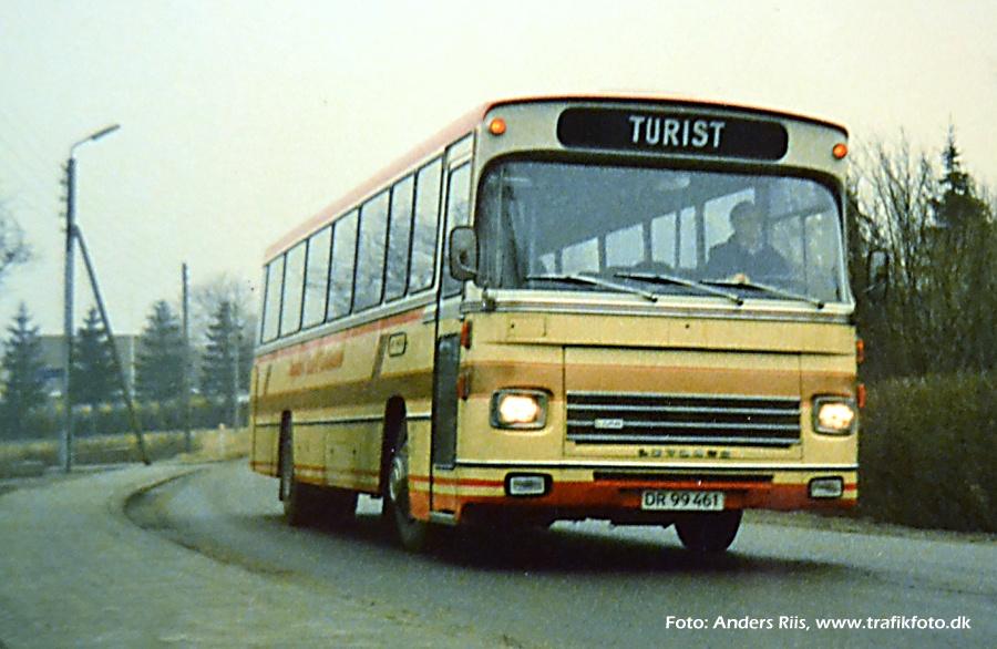 Nygaards Rute- og Turistbusser DR99461 et sted i Jylland i 1986