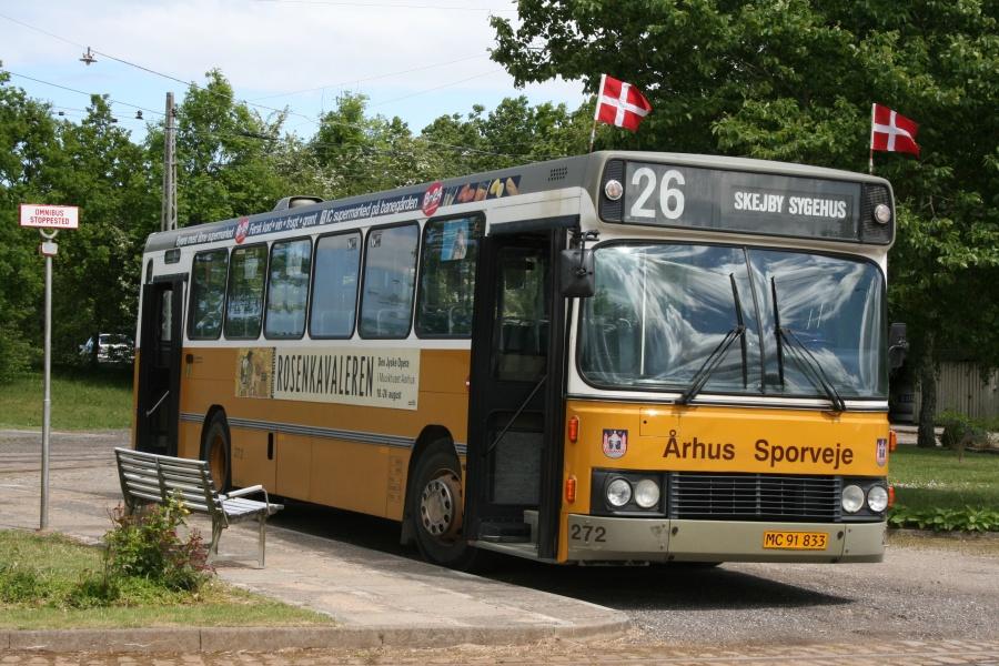 Århus Sporveje 272/MC91833 på Sporvejsmuseet Skjoldnæsholm den 2. juni 2012