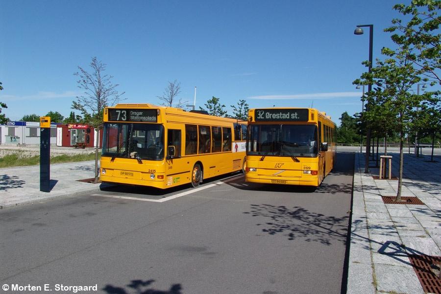 City-Trafik 2415/OP88572 og Connex 5129/TT94683 på Kay Fiskers Plads i Ørestad den 8. juni 2005